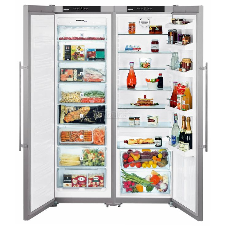 Холодильник бок о бок, Liebherr / холодильный шкаф + морозильник