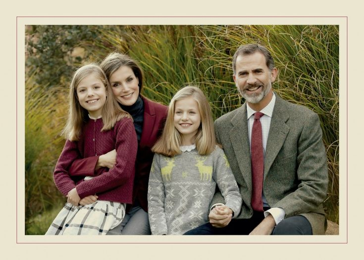 2016 Christmas & New Year's cards: Spanish Royal Family