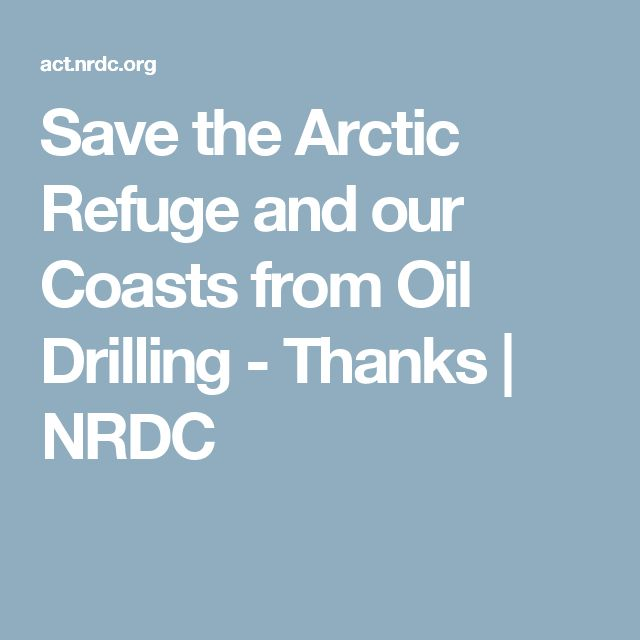 Save the Arctic Refuge and our Coasts from Oil Drilling - Thanks | NRDC