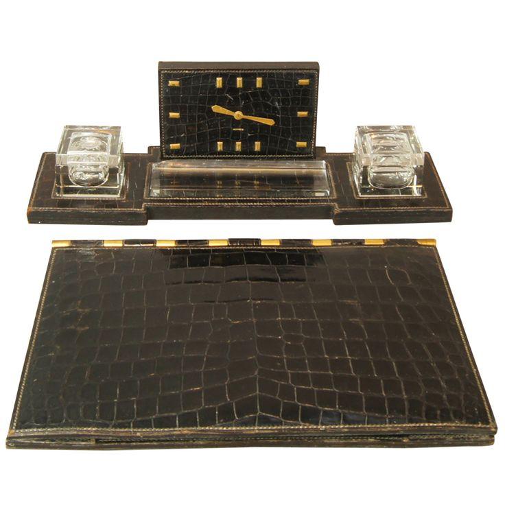 Vintage Hermes Desk Set in Black Crocodile - 29 Best Desk Set Images On Pinterest Desk Set, Desks And Desktop