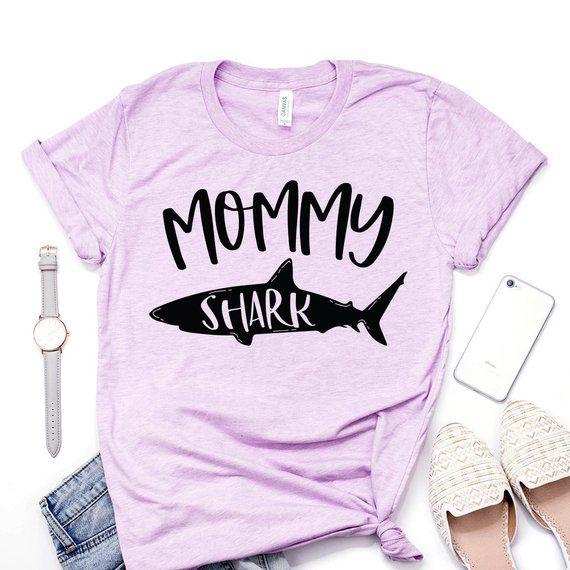 Baby Shark Glitter All Over Shark Print Pink Girls T-Shirt