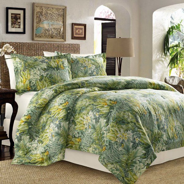 Tommy Bahama Home Tropical Lily Comforter and Duvet Cover