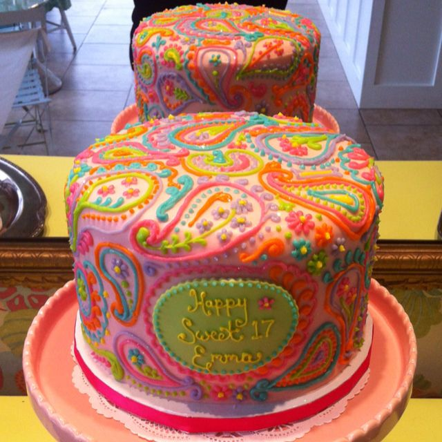 Paisley cake! Loooooove!!! Brittney would love this one!