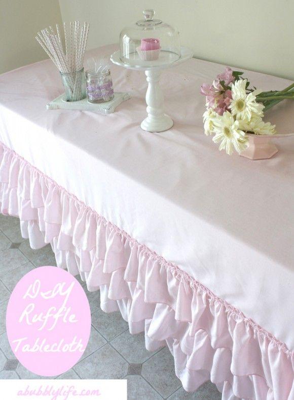 No sew tablecloth