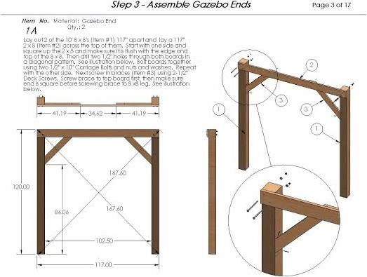 how to build a cheap wooden gazebo