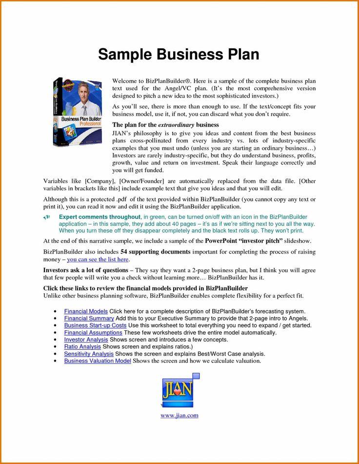 restaurant business plan template pdf