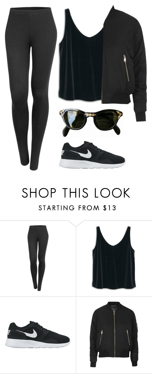 """""""here comes the feeling you thought you've forgotten"""" by redapplecigarettes ❤ liked on Polyvore featuring LE3NO, MANGO, NIKE and Topshop"""