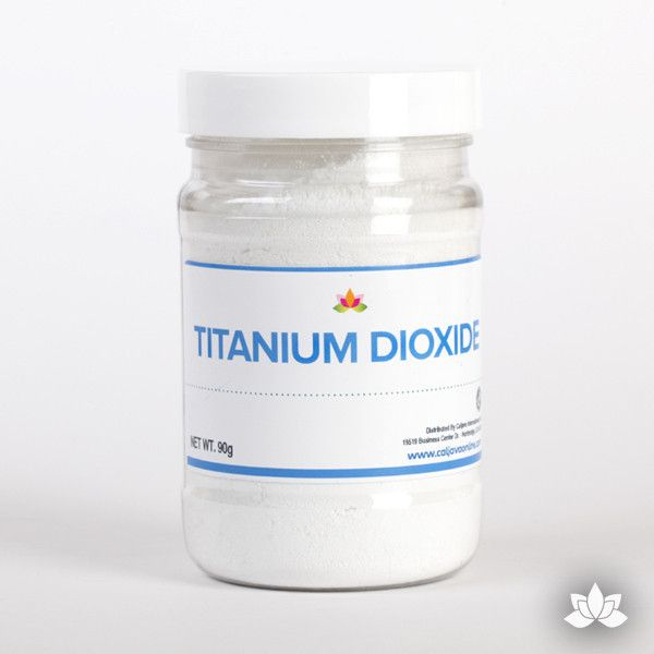 Titanium dioxide is a food safe whiter or whitening agent to help make your sugar creations white & bright. Whitening powder. Perfect for icings & mixes.   CaljavaOnline.com #caljava #baking #ingredient