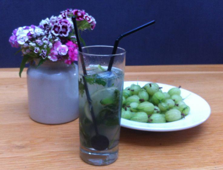 Gooseberry mint cordial