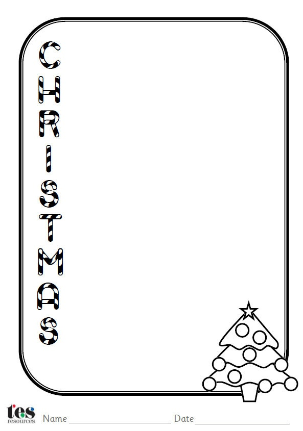 A set of 4 Christmas themed acrostic poem sheets. Each sheet includes a clear font and images that can be coloured in or decorated. Templates included cover the words Christmas, presents, angels and stars