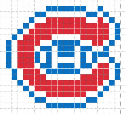Luvs 2 Knit: Montreal Canadians Chart