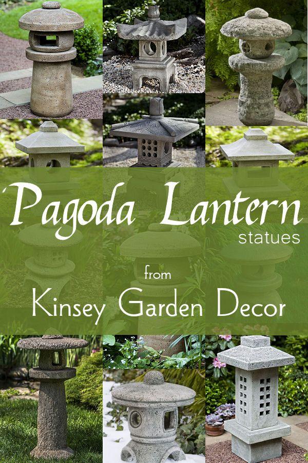 Kinsey Garden Decor Asian Outdoor Chinese And Japanese Pagoda Lantern  Statues For Zen Gardens. Cast