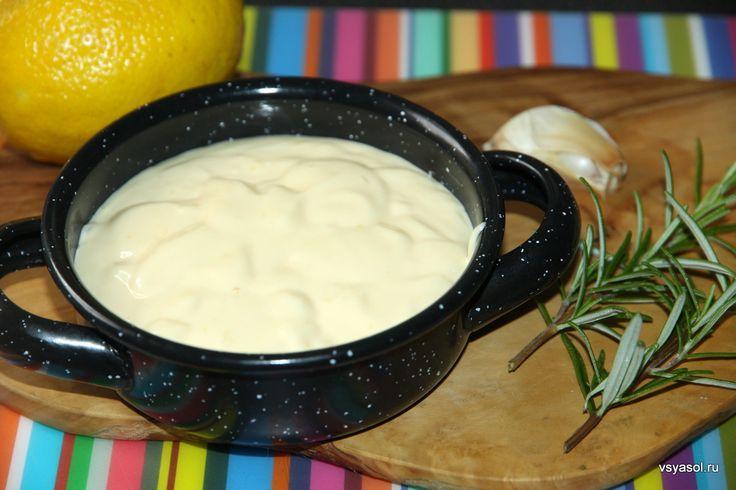 Домашний соус айоли