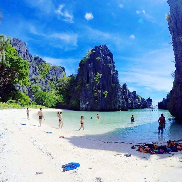 """Hidden Beach - El Nido, Philippines @lewisldt - """"Amazing Island hopping tour from El Nido, Philippines to Hidden beach. One thing about this country? It have to be on your bucket list ! #Backpackerstory #backpacker #travel #destination"""