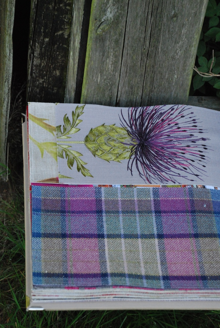 Voyage Boutique fabrics have some beautiful 100% wool tartans and silk embroideries.  We have a range of cushions in these fabrics too!