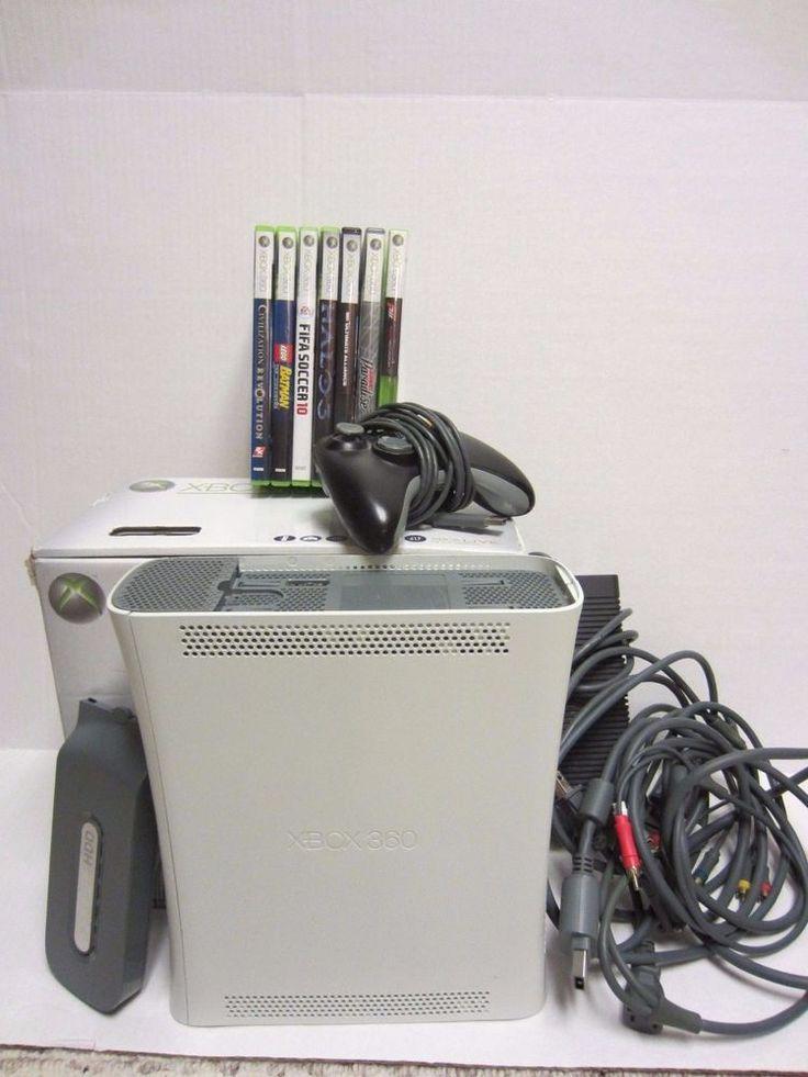 XBox 360 20 GB Pro Bundle Console 7 Games Controller Halo 3 Lego Batman  #Microsoft