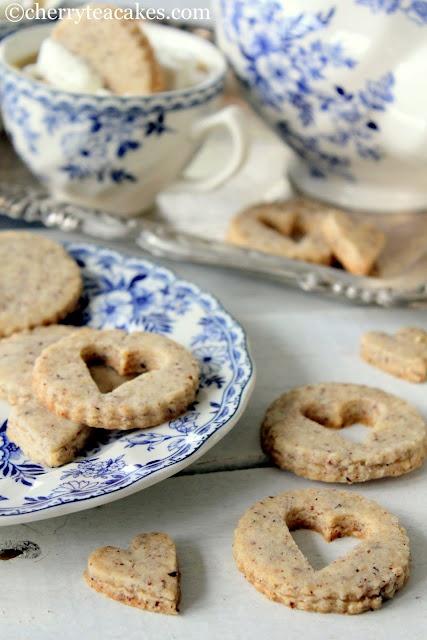 Cherry Tea Cakes: Hazelnut Sandies