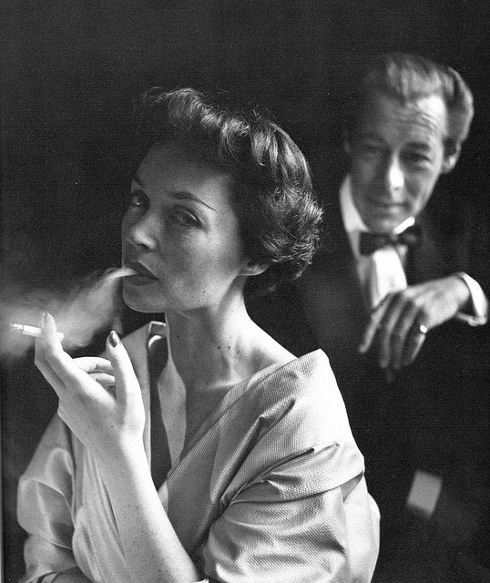 Lilli Palmer and her husband, Rex Harrison, photo by Toni Frissell, 1950.  #palmer  #harrison