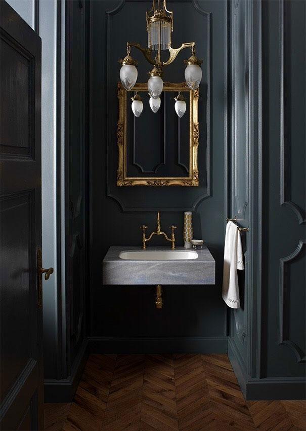 Чёрный цвет в ванных комнатах? Да