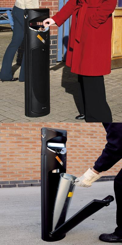 The Ashguard SG® free standing cigarette bin has a 10-litre zinc-coated steel liner able to contain up to 3,500 cigarette butts. #GlasdonUK #CigaretteBin #CigaretteDisposal