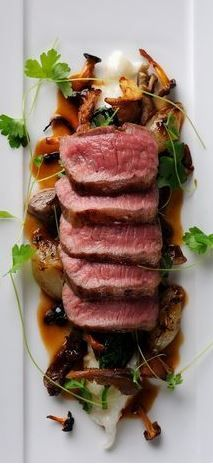 Lamb loin parmesan risotto and pan juices for brunch [OC] #recipes #food…