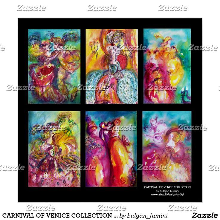 CARNIVAL OF VENICE COLLECTION Dance Music Theater Poster #beauty #fineart #masquerade #masks #artprints #artist