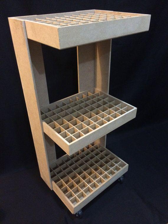 Nail Polish Wooden Floor Standing Rack with by CLVLArtsBrazil, $120.00