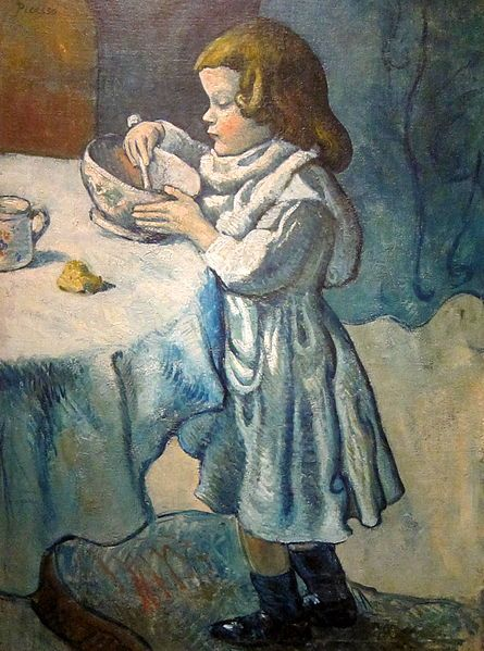 Le Gourmet (1901, Pablo Picasso) located inside the National Gallery of Art's West Building in Washington, D.C