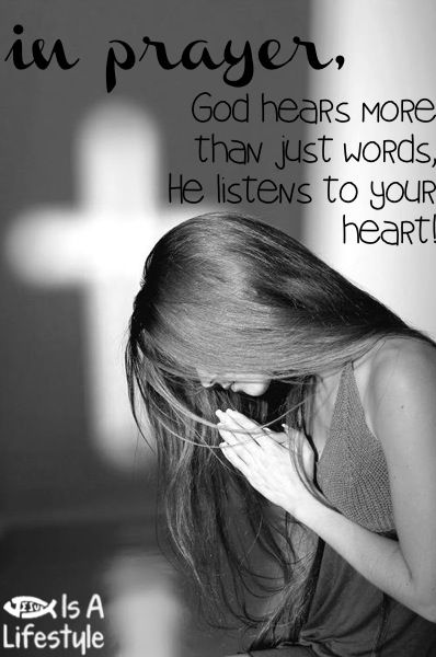 God listens to our hearts...
