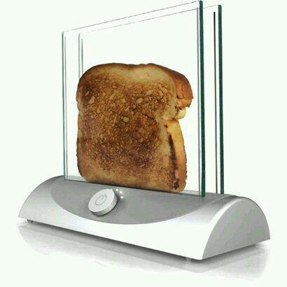 Aquí tienes la tostadora que te permite ver el proceso de tostado :) #utensiliosdecocina