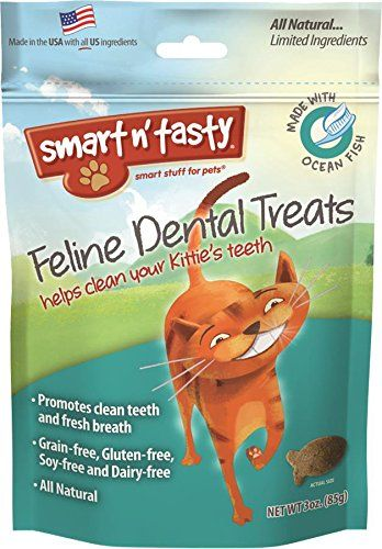 Finally a healthy grain-free dental treat for cats with a taste they love! Smart n' Tasty all natural and nutritious crunchy treats are irresistible to cats. Pet owners love that they're grain free...