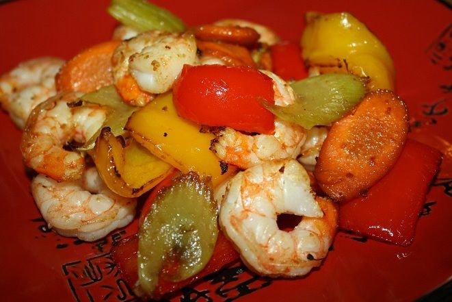 Shrimp and Veggie Stir-Fry (Actifry)