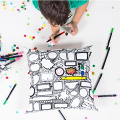 """""""Scribble It"""" Leave A Comment Cushion Cover - Black 