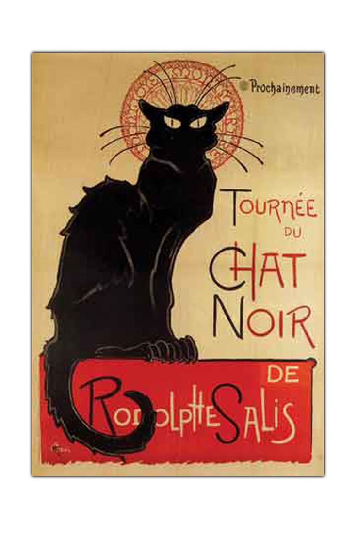 Theophile A. Steinlen Tournee Du Chat Noir, Gallery Wrapped Canvas Art - Beyond the Rack