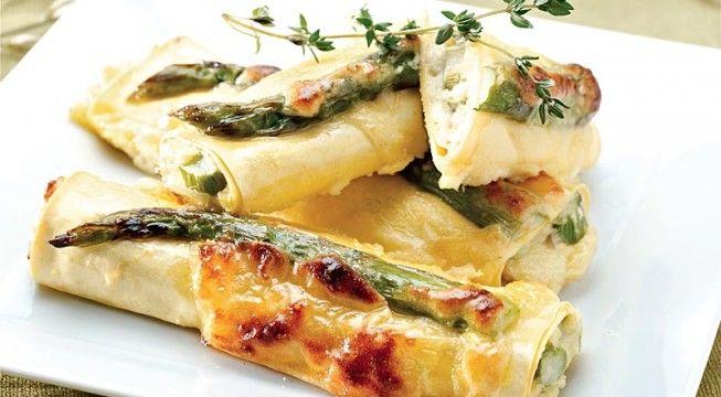 foto Cannelloni asparagi e formaggio