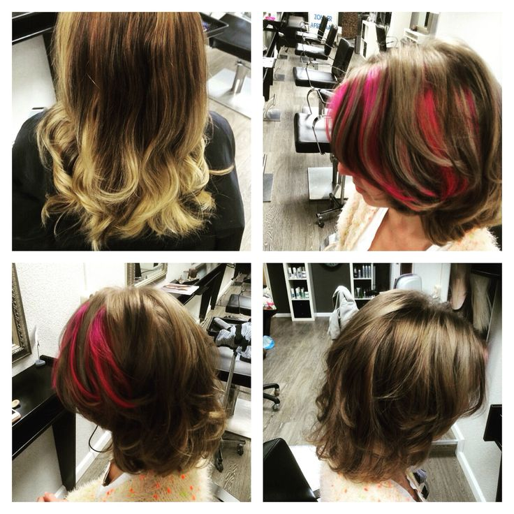 Touch of pink #hair #pink