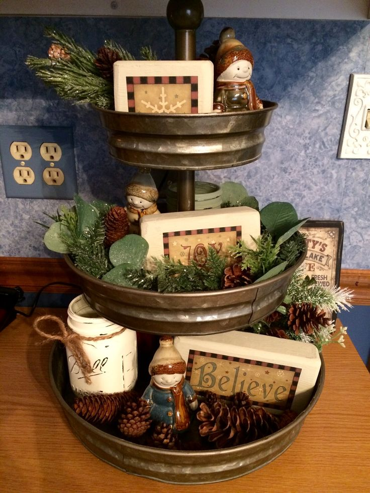 Winter Tiered Tray