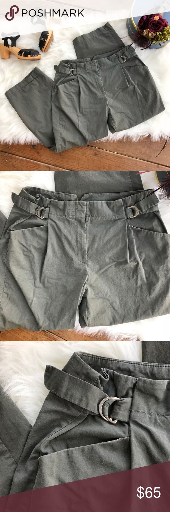 """Theory Pants With Adjustable Waist Buckle Theory pants with an adjustable waist buckle. Size 8. Waist - 30"""" Rise - 11"""" Inseam - 25.5 Theory Pants Trousers"""