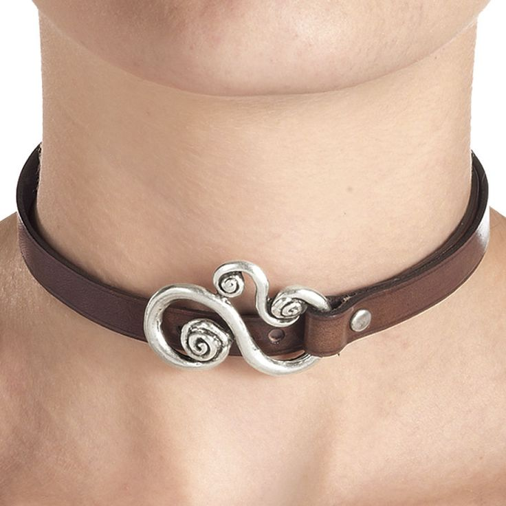 Leather Choker Bracelet - New Age & Spiritual Gifts at Pyramid Collection  Very basic, very pretty.