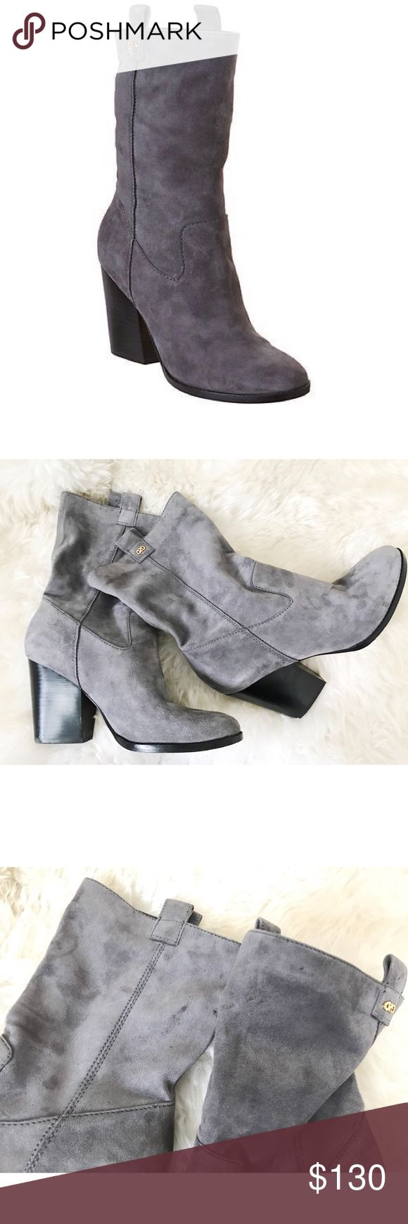 Cole Haan Nightingale Slouchy Suede Bootie Cole Haan grey slouchy suede bootie! Super cute and excellent condition! A few tiny, minor dark spots pictured! Soles and heel in excellent condition! Lovely boot! Offers welcome! Cole Haan Shoes Ankle Boots & Booties