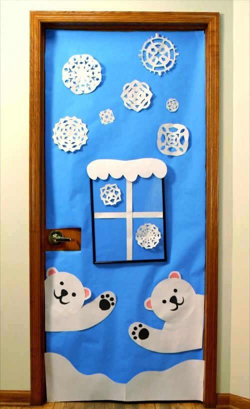 Bring some good cheer to your classroom with this holiday classroom doors and winter classroom door ideas. Then recreate them yourself!