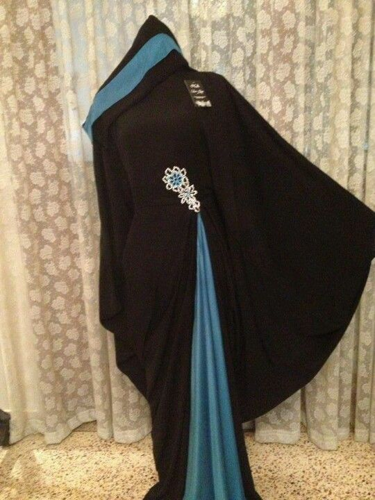Love this black and teal butterfly abaya.....
