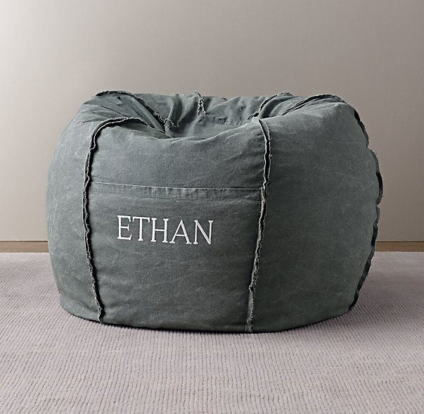 Distressed Canvas Bean Bag Cover CoversKids SeatingRestoration Hardware