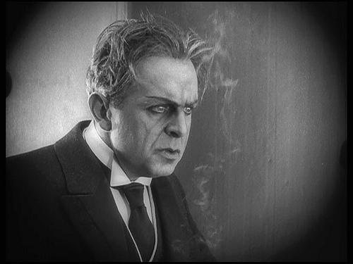 """Dr Mabuse, The Gambler - dir. Fritz Lang, 1922"" Go watch it. Now. It is on Netflix. Long, but worth it."