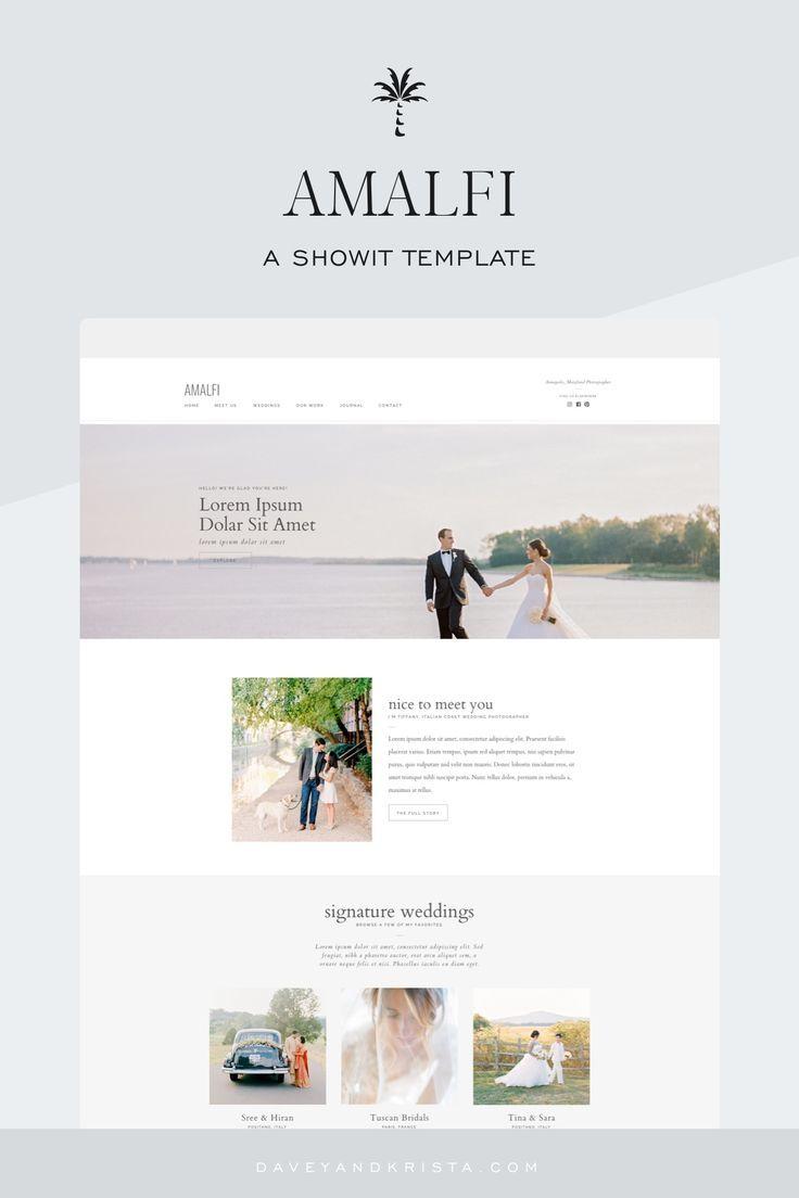 Amalfi Showit Wordpress Website Design Branding Website Design Website Template Design