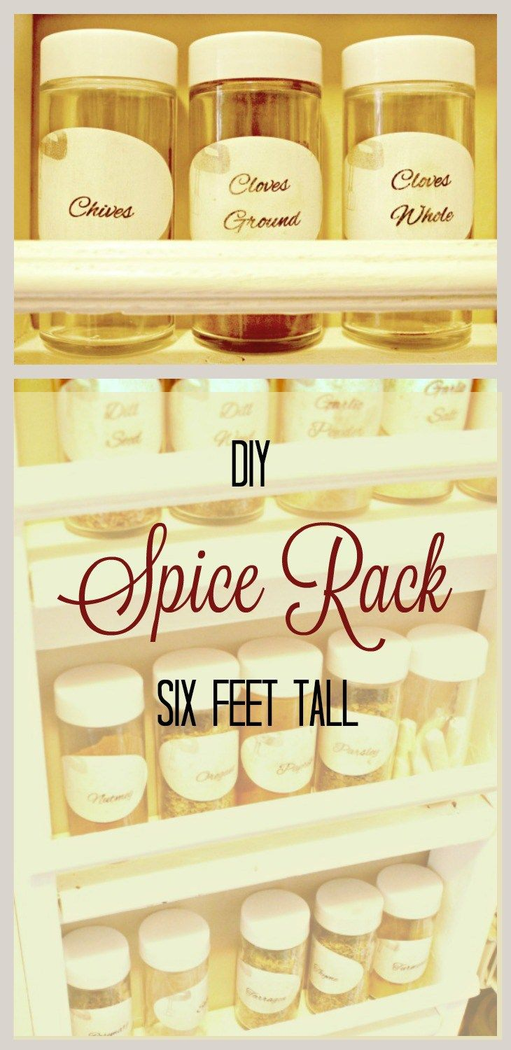 DIY Spice Rack, Kitchen Storage Hacks,Pantry Storage, Organizing, Kitchen Organizing, Pantry Organizing Ideas