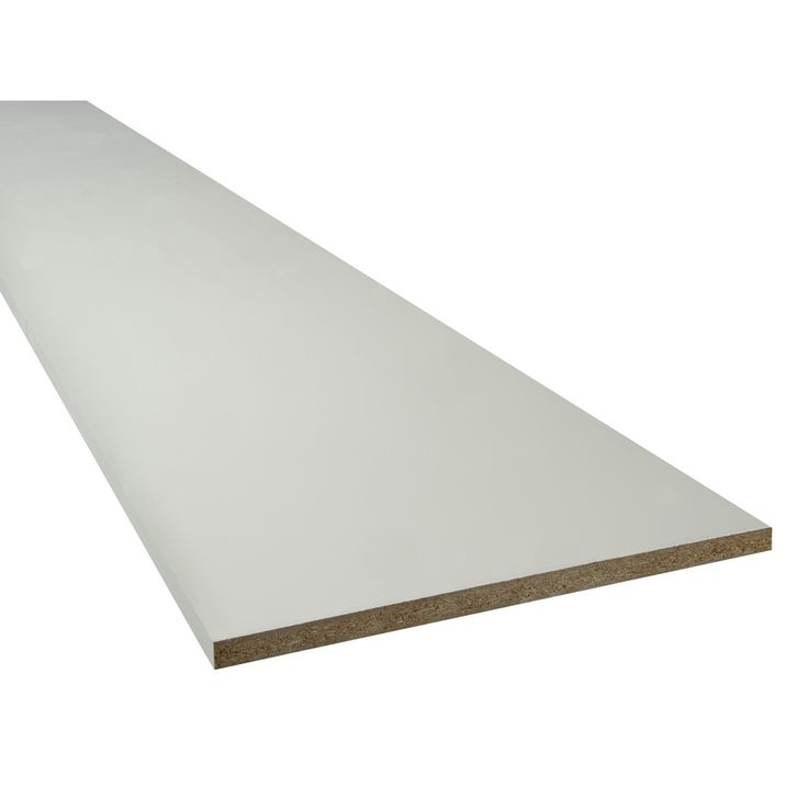 Thermally Fused Laminate 11.75-in W x 97-in L x 0.75-in D White Shelf Board