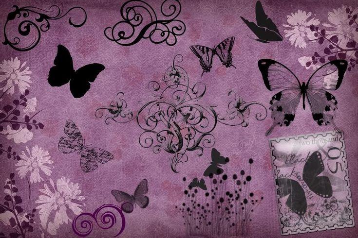 Download Purple Butterflies Wallpaper 900x600 | Full HD Wallpapers