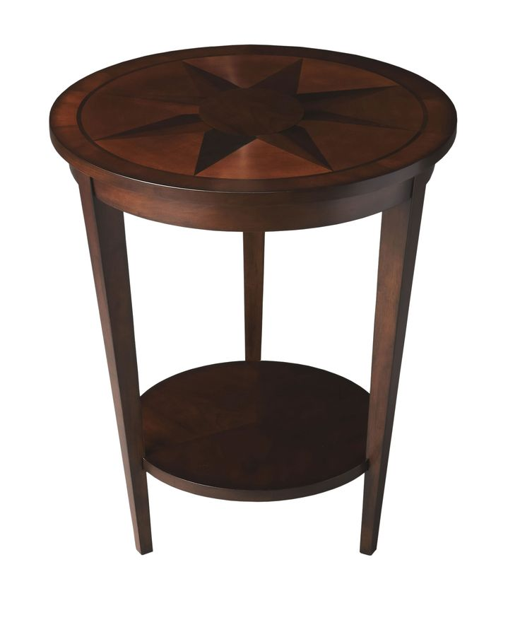 Best Nautical Compass Side Table Espresso This Dazzling 400 x 300