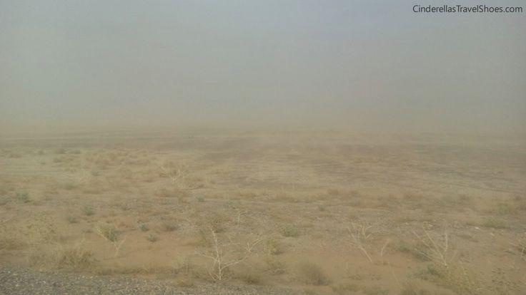 Strong wind in Merzouga, Sahara Desert